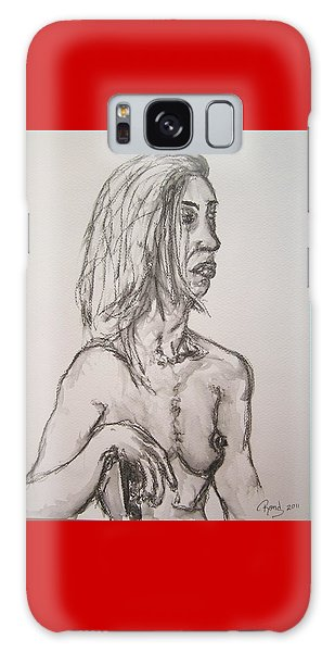 Nude In Washed Graphite Galaxy Case by Rand Swift