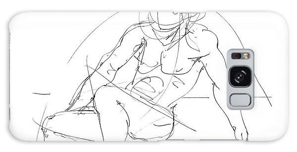 Nude-male-drawings-13 Galaxy Case