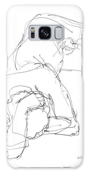 Nude Male Drawings 7 Galaxy Case