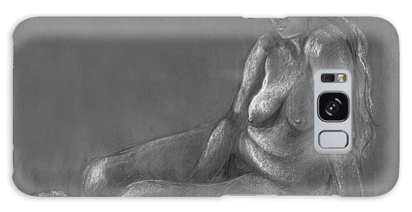 Nude Of A Real Woman In Black Galaxy Case