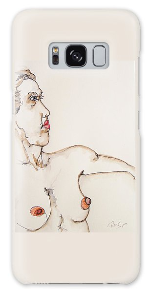 Nude On Chair Galaxy Case by Rand Swift