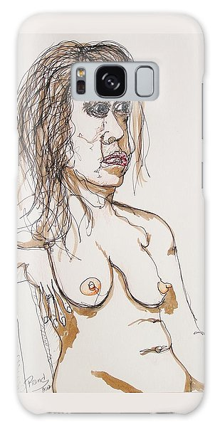 Nude Sitting With Ink Galaxy Case by Rand Swift