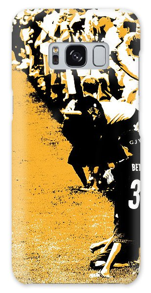 Number 1 Bettis Fan - Black And Gold Galaxy Case