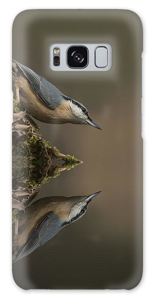 Nuthatch Reflection Galaxy Case