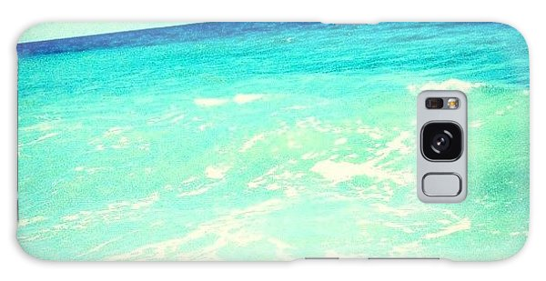 #ocean #plain #myrtlebeach #edit #blue Galaxy Case