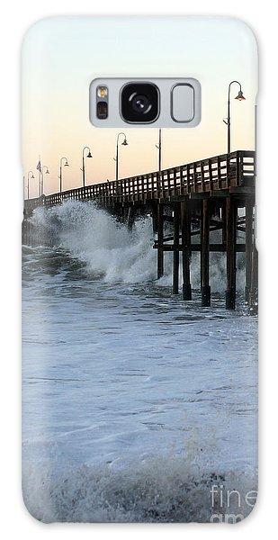 Ocean Wave Storm Pier Galaxy Case