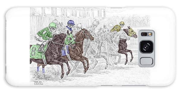 Odds Are - Tb Horse Racing Print Color Tinted Galaxy Case by Kelli Swan