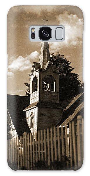 Ol' Church On The Hill Galaxy Case by Randall  Cogle