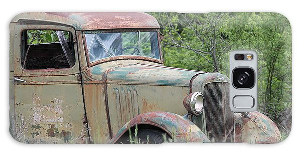 Abandoned Truck In Field Galaxy Case by Athena Mckinzie