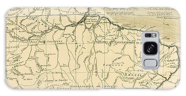 Engraving Galaxy Case - Old Map Of Northern Brazil by Guillaume Raynal