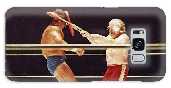 Old School Wrestling Chair Shot To The Head On Don Muraco By Moondog Mayne Galaxy Case by Jim Fitzpatrick