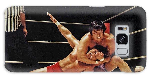 Old School Wrestling Headlock By Dean Ho On Don Muraco Galaxy Case by Jim Fitzpatrick