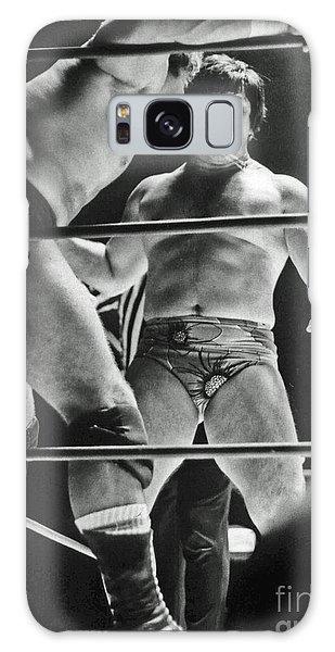 Old School Wrestling Karate Chop On Don Muraco By Dean Ho Galaxy Case by Jim Fitzpatrick