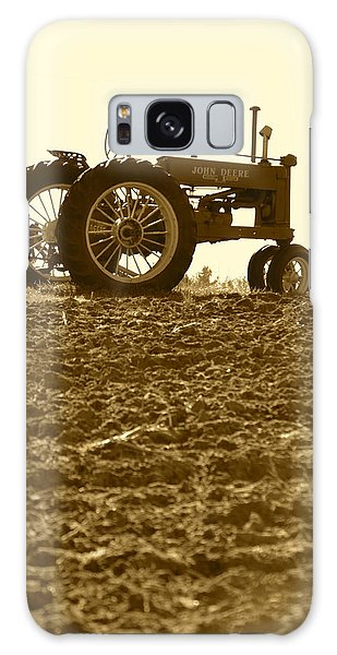 Old Tractor I In Sepia Galaxy Case