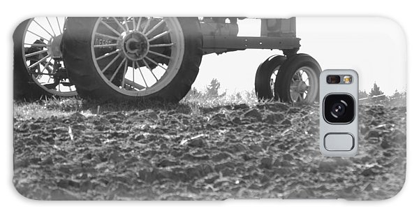 Old Tractor II In Black-and-white Galaxy Case