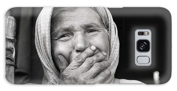 Old Woman From Maramures Romania Galaxy Case