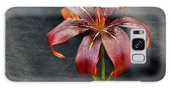 One Black Lily Galaxy Case