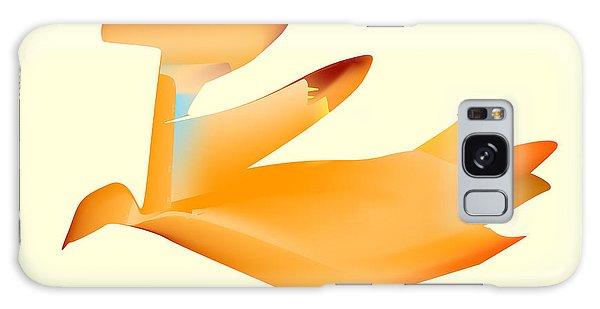Orange Jetpack Penguin Galaxy Case by Kevin McLaughlin