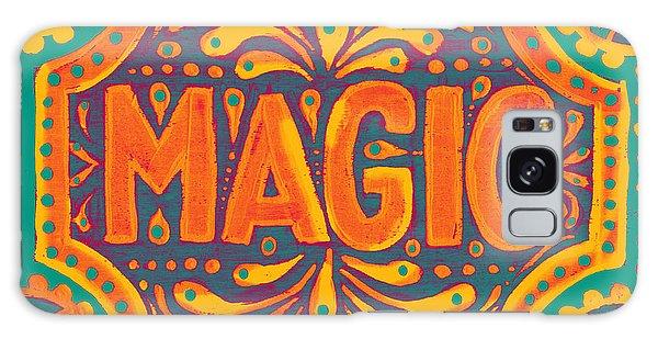 Orange Magic  Galaxy Case