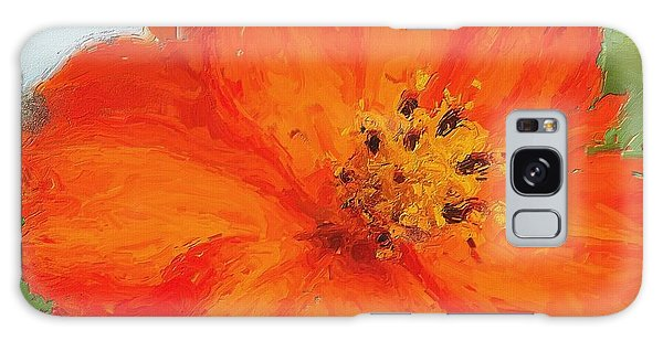 Orange Galaxy Case by Michelle Joseph-Long