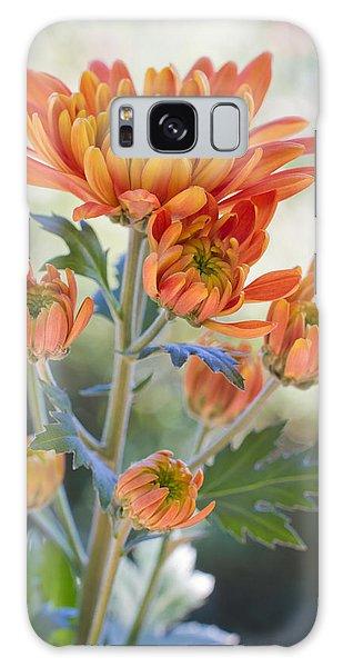 Orange Mums Galaxy Case by Heidi Smith