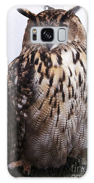 Orange Owl Eyes Galaxy Case