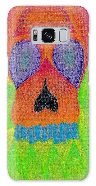 Influence Galaxy Case - Orange Skull by Jera Sky