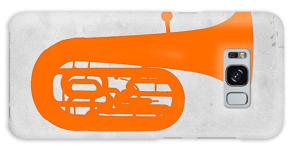 Trombone Galaxy Case - Orange Tuba by Naxart Studio