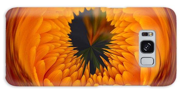 Orange Zinnia Orb Galaxy Case