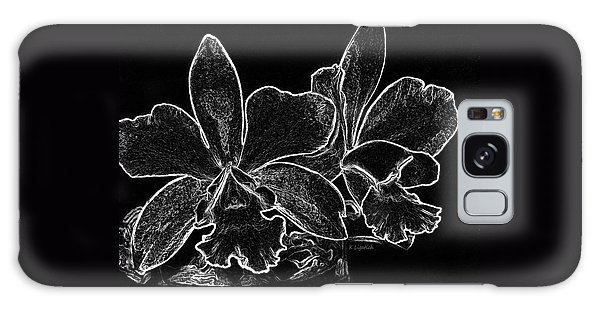 Orchids - Black And White Abstract Galaxy Case