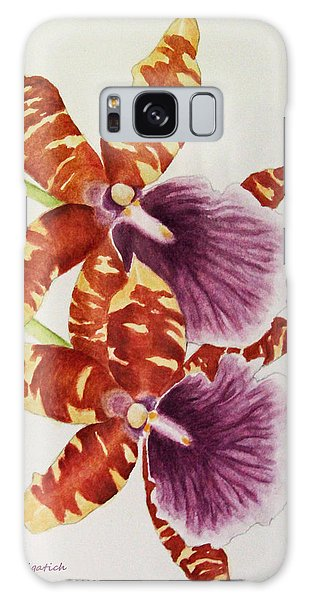 Orchids - Tiger Stripes  Galaxy Case
