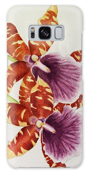 Orchids - Tiger Stripes  Galaxy Case by Kerri Ligatich