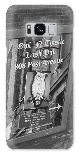 Owl And Thistle Irish Pub Galaxy Case