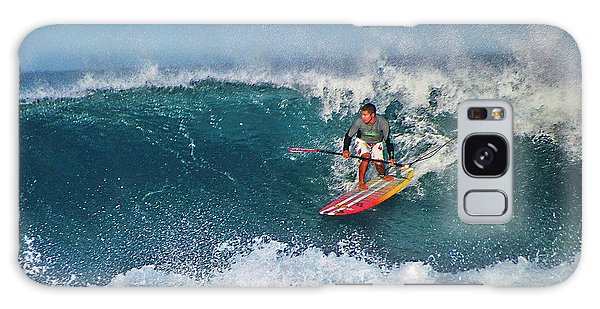 Paddleboarder Rides The Break Galaxy Case