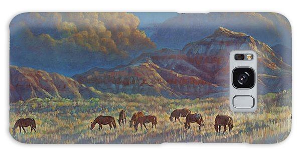 Painted Desert Painted Horses Galaxy Case