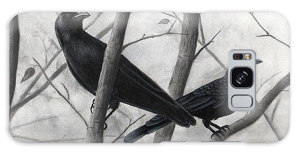 Pair Of Crows Galaxy Case