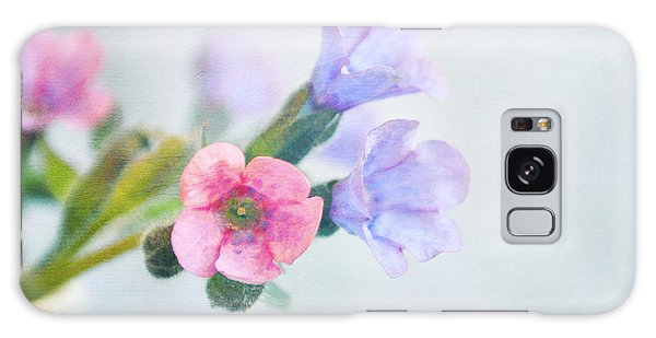 Pale Pink And Purple Pulmonaria Flowers Galaxy Case by Lyn Randle
