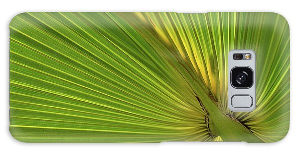Palm Leaf II Galaxy Case by JD Grimes