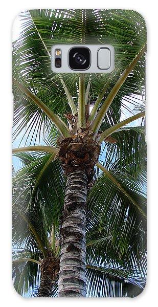 Palm Tree Umbrella Galaxy Case by Athena Mckinzie