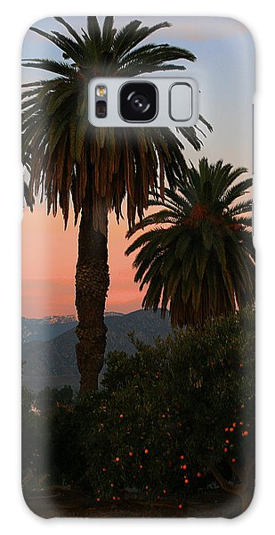 Palm Trees And Orange Trees Galaxy Case