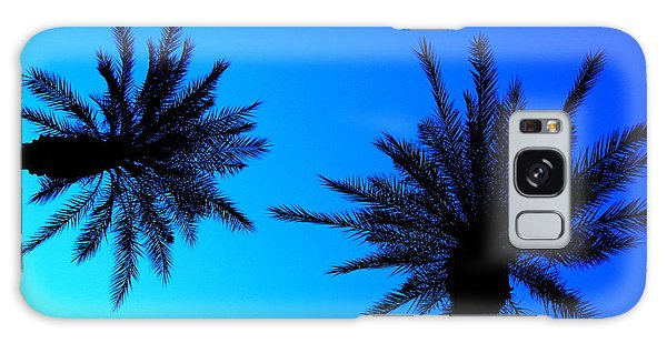Palm Trees At Dusk Galaxy Case
