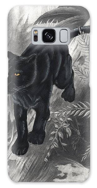 Panther By The Water Galaxy Case