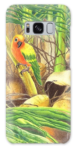 Parrot In Palm Galaxy Case