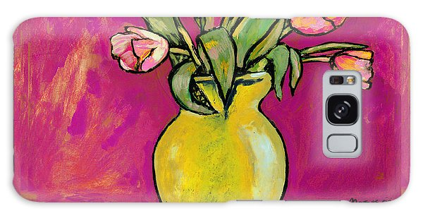 Parrot Tulips In A Yellow Vase Galaxy Case