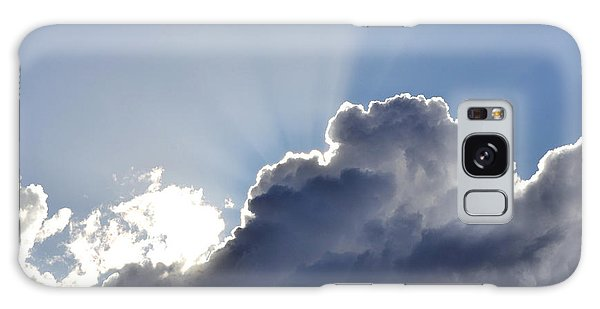 Partly Cloudy Galaxy Case by Rebecca Margraf