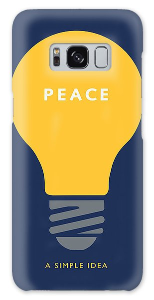 Peace A Simple Idea Galaxy Case by David Klaboe