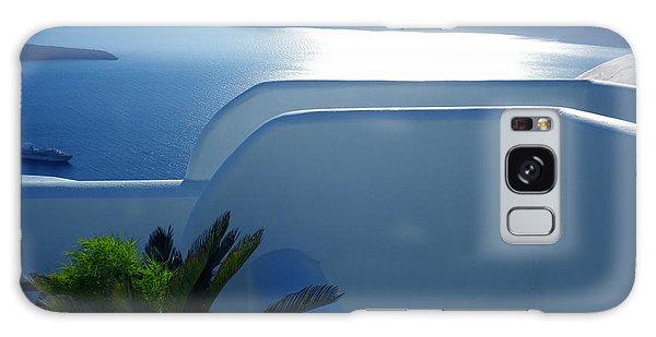 Peaceful Sunset Santorini Galaxy Case
