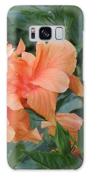 Peach Hibiscus  Galaxy Case