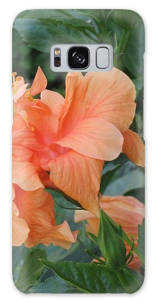 Peach Hibiscus  Galaxy Case