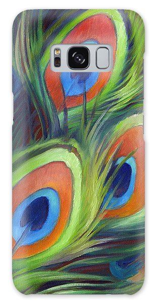Iridescent Galaxy Case - Peacock Feathers by Nancy Tilles